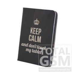 GreenGo univerzális tablet tok 7-8 colos Keep Calm mintás