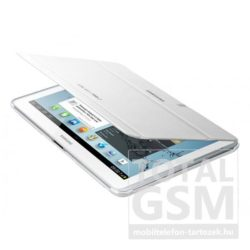 Samsung Galaxy Tab 2 10.1 P5100 fehér műanyag book cover flip tok gyári