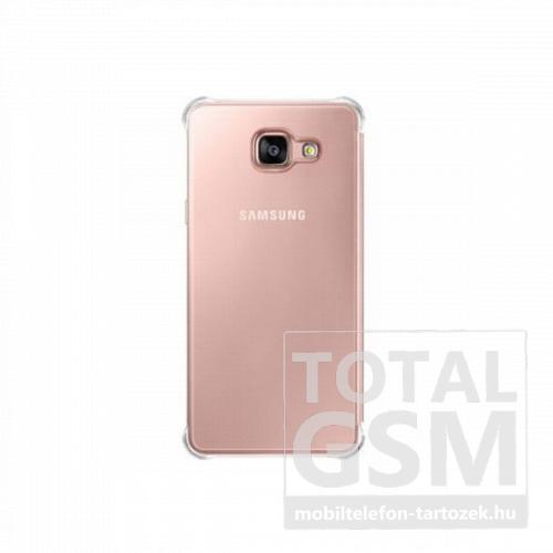 Samsung Galaxy A5 (2016) SM-A510 oldalra nyíló pink áttetsző cover flip tok
