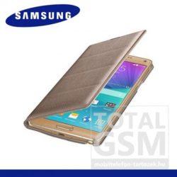 Samsung Galaxy Note 4 SM-N910C oldalra nyíló Rose Gold cover flip tok