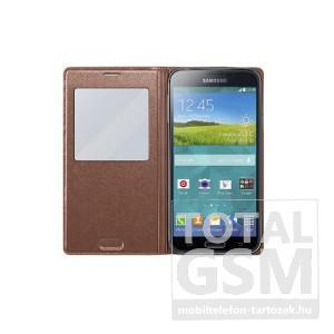 Samsung Galaxy S5 Neo SM-G903F oldalra nyíló Rose Gold ablakos cover flip tok