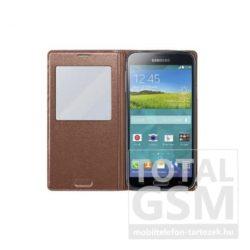 Samsung Galaxy S5 SM-G900 oldalra nyíló Rose Gold ablakos cover flip tok
