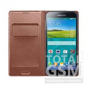 Samsung Galaxy S5 SM-G900 oldalra nyíló Rose Gold cover flip tok