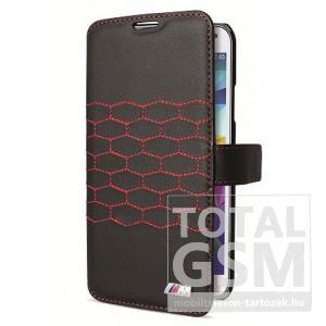 Samsung Galaxy S5 SM-G900 oldalra nyíló fekete mintás cover bőr flip tok BMW