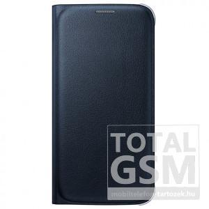 Samsung Galaxy S6 Edge SM-G925 oldalra nyíló fekete book cover bőr flip tok