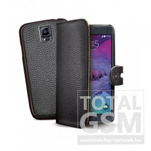 Samsung Galaxy S6 Edge SM-G925 oldalra nyíló fekete book cover flip tok