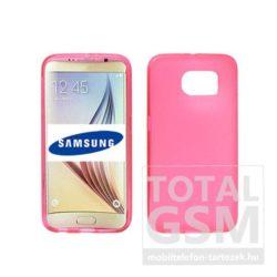 Samsung Galaxy S6 Edge SM-G925 pink vékony szilikon tok