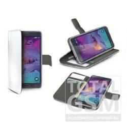 Samsung Galaxy S6 SM-G920 oldalra nyíló fehér book cover flip tok