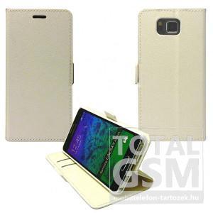 Samsung Galaxy S6 SM-G920 oldalra nyíló fehér flip tok