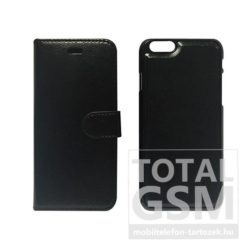 Samsung Galaxy S6 SM-G920 oldalra nyíló fekete cover flip tok