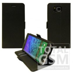 Samsung Galaxy S6 SM-G920 oldalra nyíló fekete flip tok