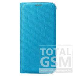 Samsung Galaxy S6 SM-G920 oldalra nyíló gyári kék book cover bőr flip tok