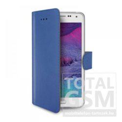 Samsung Galaxy S6 SM-G920 oldalra nyíló kék book cover flip tok