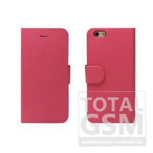 Samsung Galaxy S6 SM-G920 oldalra nyíló pink flip tok