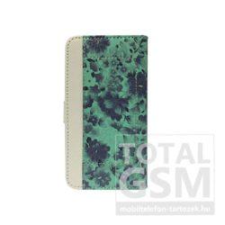 Samsung Galaxy S6 SM-G920 oldalra nyíló zöld cover flip tok