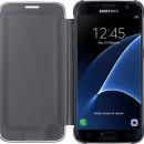 Samsung Galaxy S7 Edge SM-G935 oldalra nyíló kékesfekete áttetsző cover flip tok
