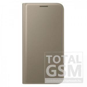 Samsung Galaxy S7 SM-G930 oldalra nyíló arany book cover bőr flip tok