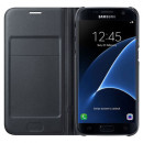 Samsung Galaxy S7 SM-G930 oldalra nyíló fekete LED cover flip tok