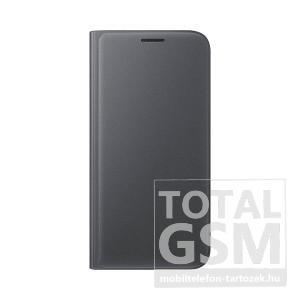 Samsung Galaxy S7 SM-G930 oldalra nyíló fekete book cover bőr flip tok