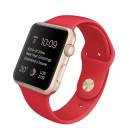 Watch 42mm arany színű alumínium tok piros sportszíjjal