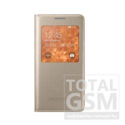 Samsung Galaxy Alpha SM-G850F oldalra nyíló Rose Gold ablakos cover flip tok