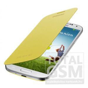 Samsung Galaxy S4 GT-I9500 oldalra nyíló citromsárga cover flip tok