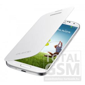 Samsung Galaxy S4 GT-I9500 oldalra nyíló fehér cover flip tok
