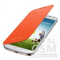 Samsung Galaxy S4 GT-I9500 oldalra nyíló narancssárga cover flip tok