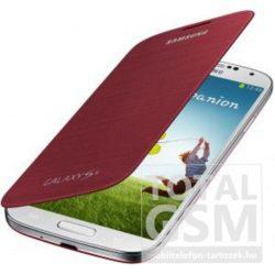 Samsung Galaxy S4 GT-I9500 oldalra nyíló vörös cover flip tok