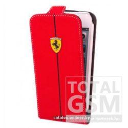 Samsung Galaxy S4 GT-I9500 piros lefelé nyíló flip tok Ferrari