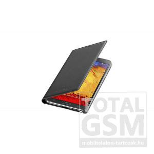 Samsung Galaxy Note 3 SM-N9000 oldalra nyíló fekete bőr flip tok