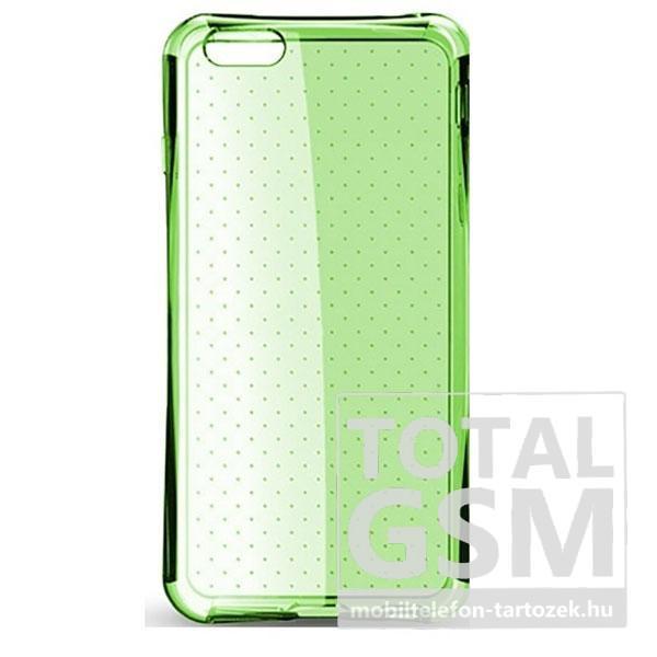 8b423531e869 Apple iPhone 6 4.7 / 6S 4.7 ütésálló neon zöld-átlátszó szilikon hátlap tok