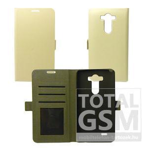 LG K4 oldalra nyíló fehér flip tok