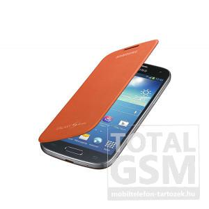 Samsung Galaxy S4 Mini GT-I9190 oldalra nyíló narancssárga cover flip tok