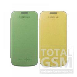 Samsung Galaxy S4 Mini GT-I9190 oldalra nyíló sárga, zöld cover flip tok, 2 db