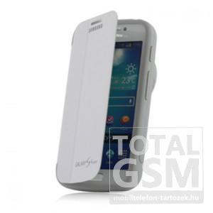 Samsung Galaxy S4 Zoom SM-C101 oldalra nyíló fehér cover flip tok