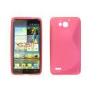 Huawei Ascend G750 / Honor 3X pink s-line szilikon tok TPU