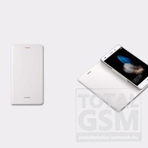 Huawei P8 Lite oldalra nyíló fehér book cover flip tok