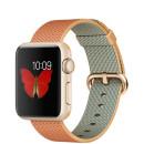 Apple Watch 38mm arany színű alumínium tok arany-piros szőtt műanyag szíjjal okosóra