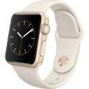 Apple Watch 38mm arany színű alumínium tok törtfehér sportszíjjal okosóra