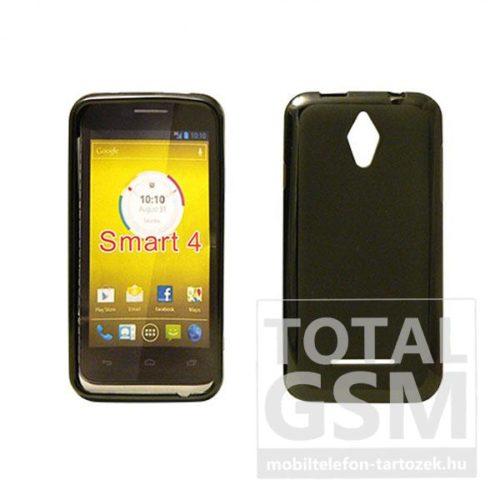 Vodafone Smart 4 Turbo fekete vékony szilikon tok