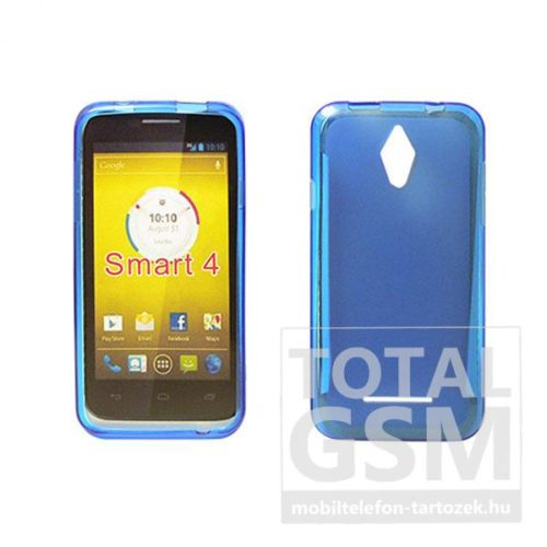 Vodafone Smart 4 Turbo kék vékony szilikon tok