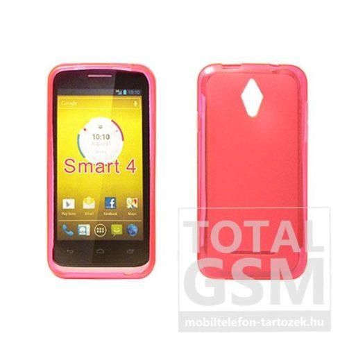 Vodafone Smart 4 Turbo pink vékony szilikon tok