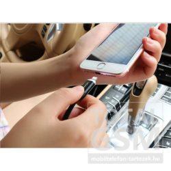 Apple iPhone 5 / 5S / 6 USAMS U-LIGHT US-SJ051 Ledes Lightning kábel fekete