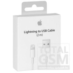 Apple iPhone 5 / 5S / SE / 5C / 6 / 6 Plus adatkábel 2m gyári fehér