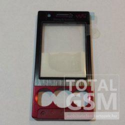 SonyEricsson W705 előlap gyári fekete-piros