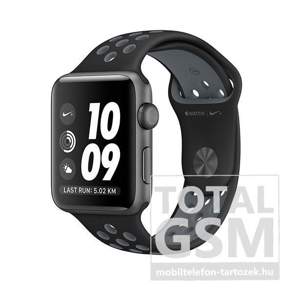 Apple Watch Nike+ S2 38mm asztroszürke alumíniumtok fekete–hidegszürke Nike sportszíjjal