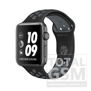 Apple Watch Nike+ S2 42mm asztroszürke alumíniumtok fekete–hidegszürke Nike sportszíjjal