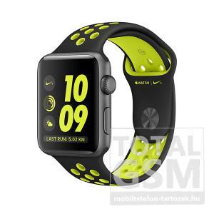 Apple Watch Nike+ S2 42mm asztroszürke alumíniumtok fekete–neonzöld Nike sportszíjjal