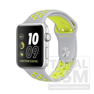 Apple Watch Nike+ S2 42mm ezüst színű alumíniumtok matt ezüst–neonzöld Nike sportszíjjal